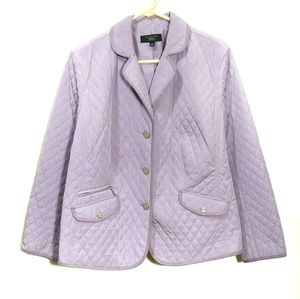 Talbots Lavender Quilted Jacket 16W